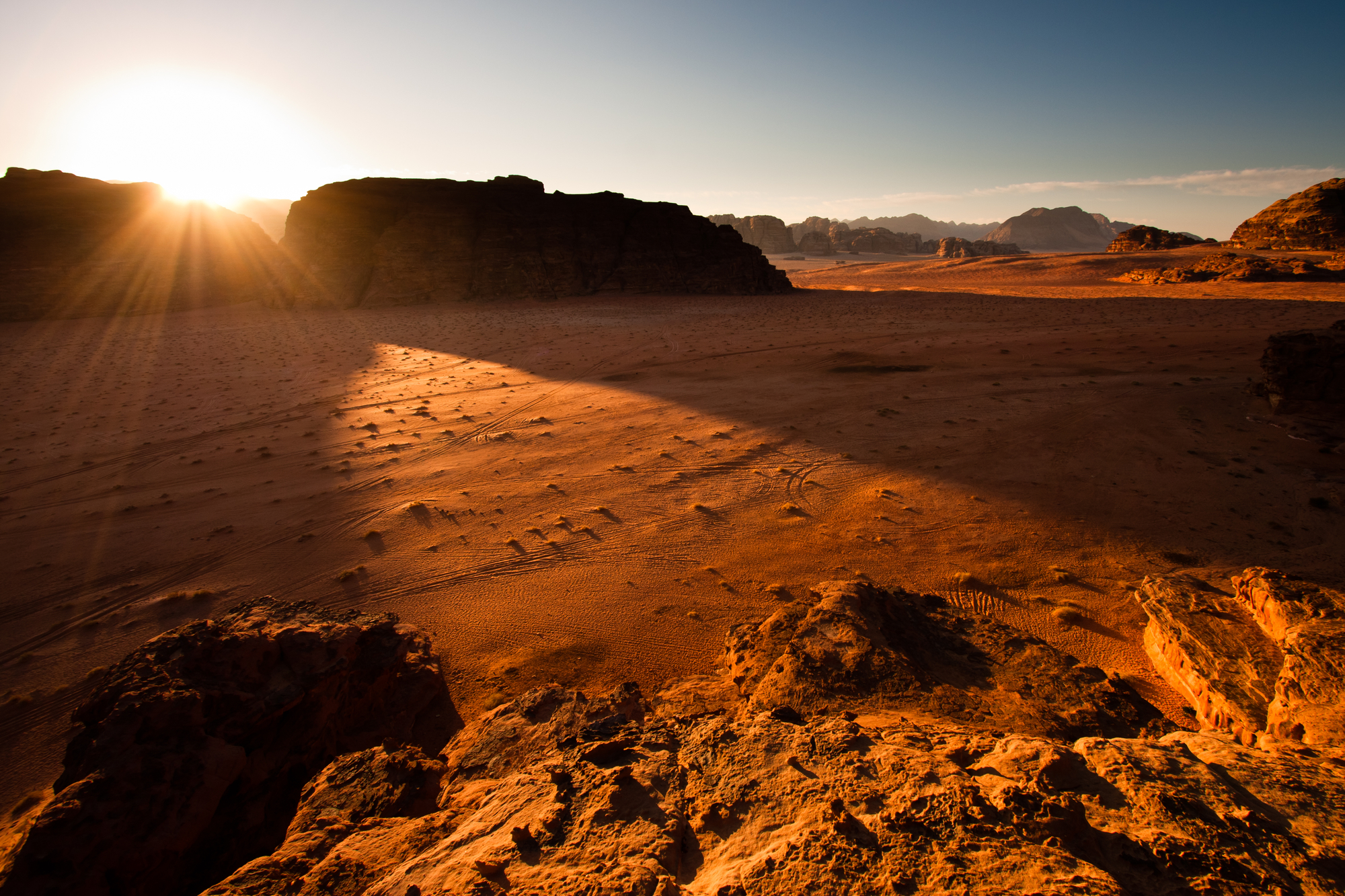 Sunrise in Wadi Rum
