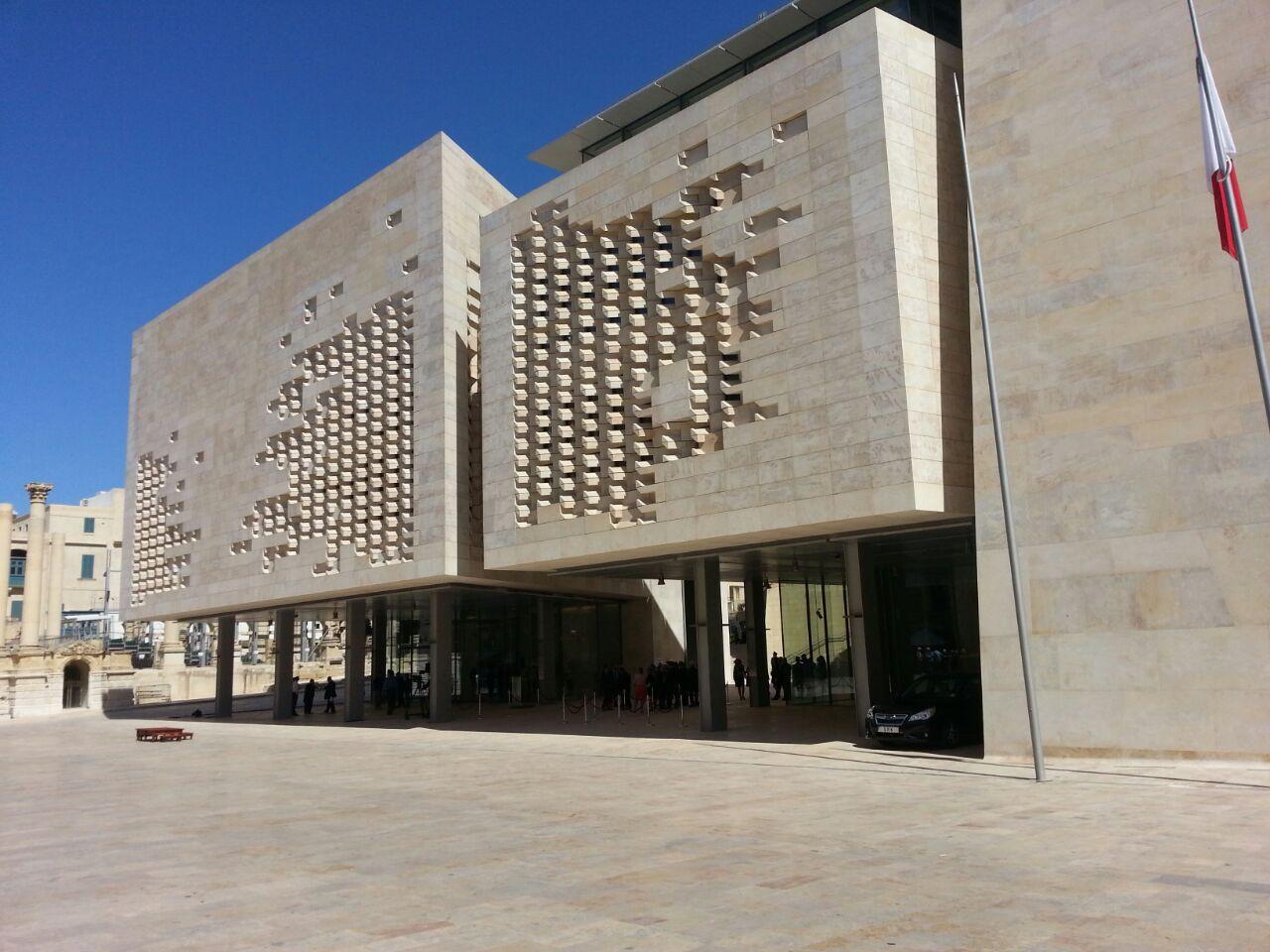 Valletta_Parlamento progettato da Renzo Piano